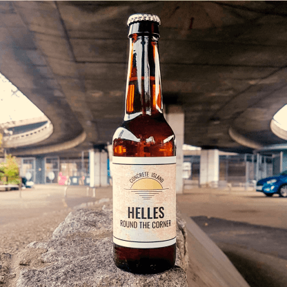 bottle of helles